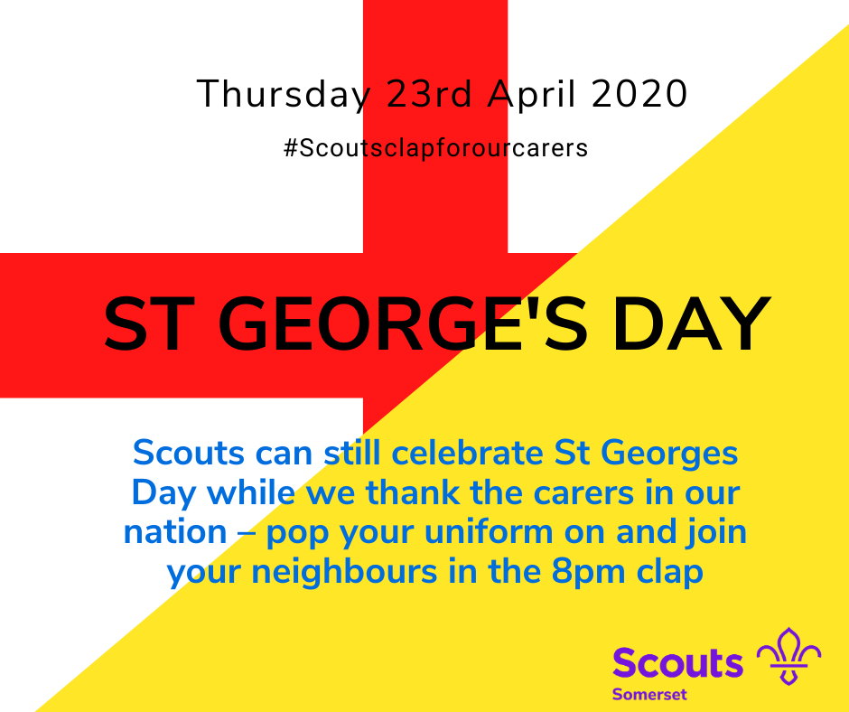 St Georges Day #ScoutsClapForCarers